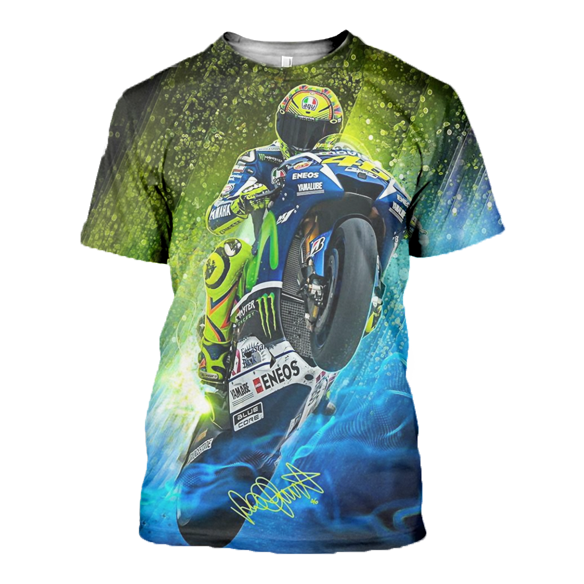Valentino Rossi 3d Allover Printed 1 201express