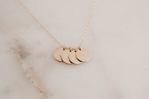 disc necklace-11mm
