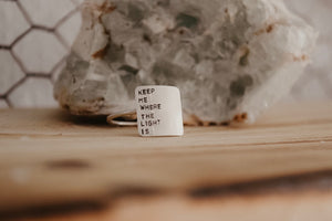 square quote ring