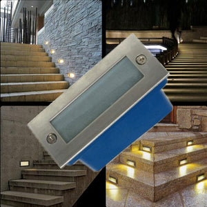 Outdoor led stair light 3W led wall lamp night light, led Step light ,recessed floor light,warm white waterproof free shipping