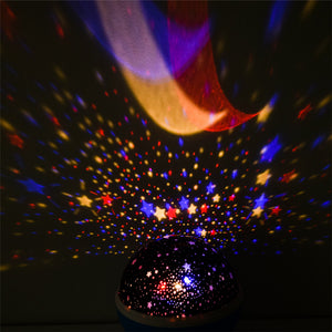Rotating Night Light Projector Spin Starry Sky Star Master Baby Sleep Romantic USB Lamp