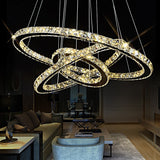 3 Rings Cool White Modern Chrome Pendant Lamp