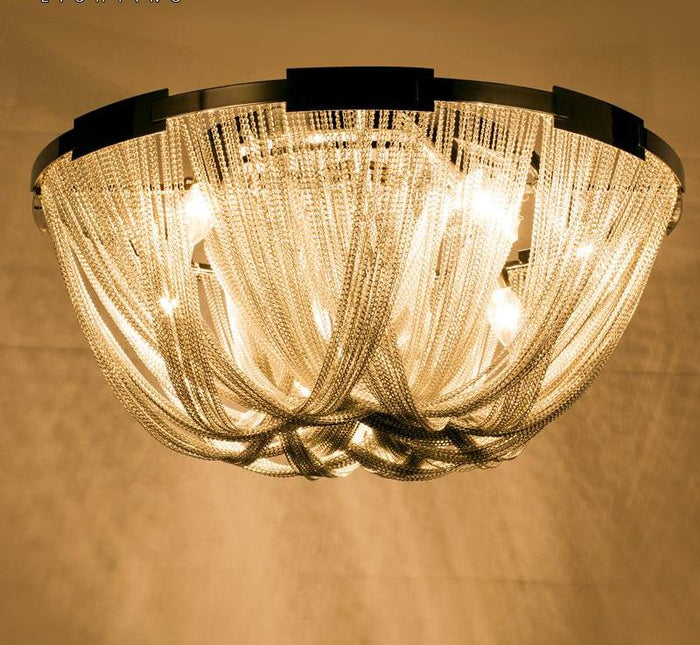 Empire Chain Flush Mounted Chandelier