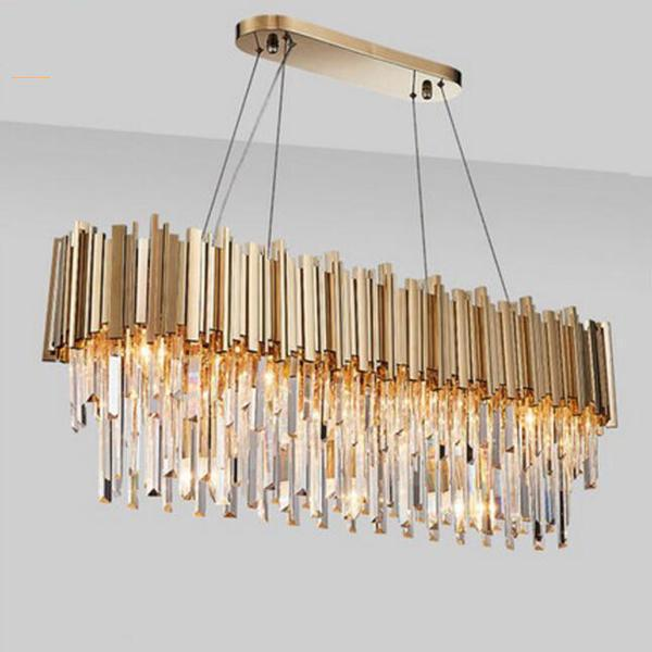 New Luxury Gold Crystal Chandelier