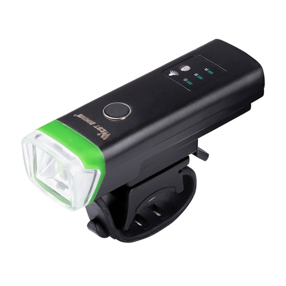 Bike Front Light Induction Bicycle Bright Light USB Charging Flashlight Waterproof Torch