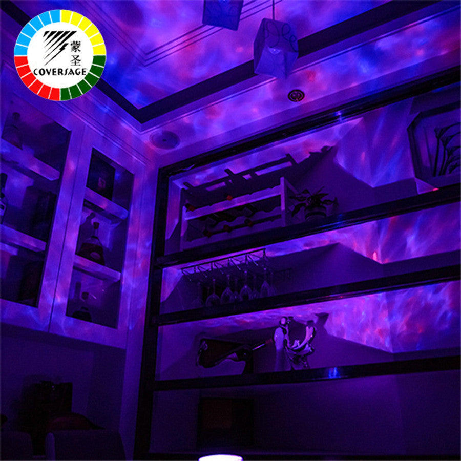 Remote Control Music Player LED Ocean Wave Projector Night Light