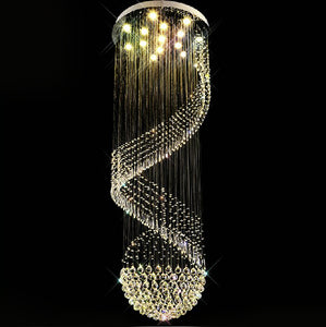 Spiral LED Crystal Luxury Chandelier
