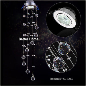 Crystal Ceiling Light K9 Crystal decorative ceiling lamp bedroom brushed crystal ceiling lighting