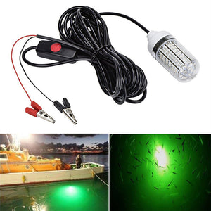 12V Fishing Light 108pcs 2835 LED Underwater Fishing Light Lures Fish Finder Lamp Attracts Prawns Squid Krill Night Fishing