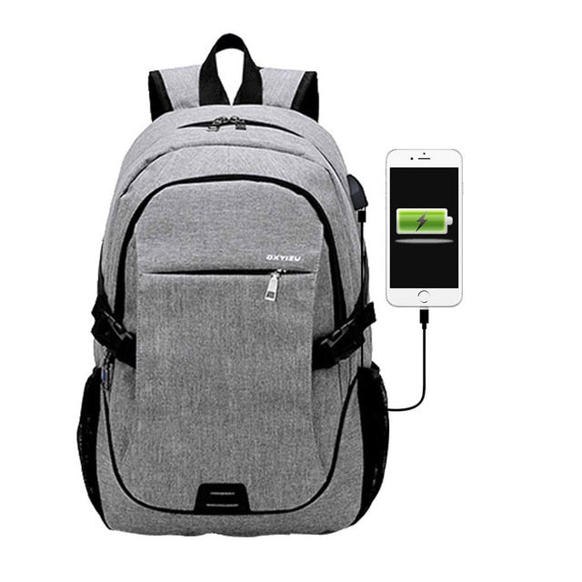 Anti Theft USB Charging Laptop Computer Backpack