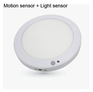 200-240V Motion Sensor & Light Sensor Ceiling LED Slim Round Panel Square Surface Panel Light