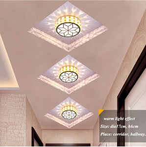 Modern Simple Acrylic Living Room Led Ceiling Chandeliers Lustre Crystal Corridor Led Chandelier