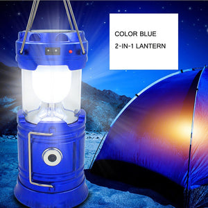 Portable Solar Charging Camping Outdoor LED Light for Tents