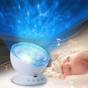Baby Luminous Toys Night Sleep Light Star Sky Ocean Wave Music Player Projector Lamp
