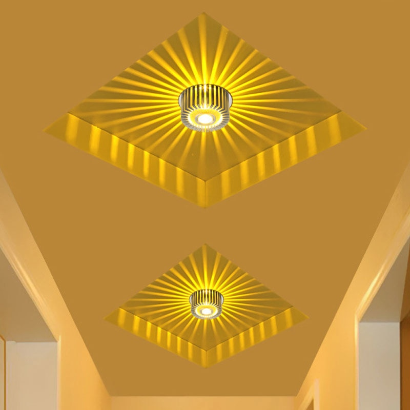 Modern LED Ceiling Light 3W RGB wall Sconce for Art Gallery