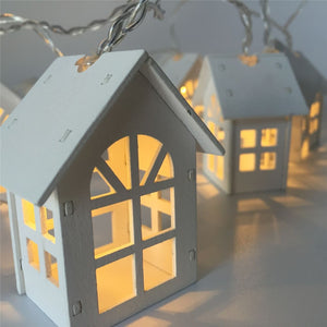 LED Garland Wood House String Light LED Love Fairy Lights 10 LED Room String Lamps