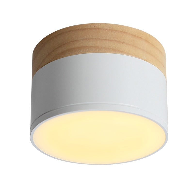 LED ceiling spot light for ceiling lamps modern spotlight wood living light