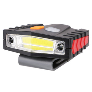 COB LED Induction Hat Clip Lights Headlight Fishing Touch Sensor Headlamp