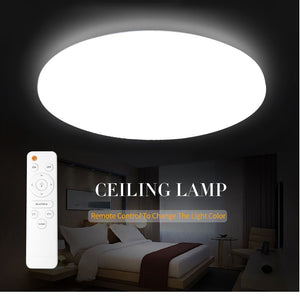 Ultra Thin LED Ceiling Light Fixture Modern Lam Surface Mount Remote Control