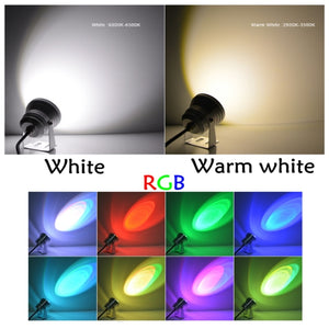 10W LED Floodlight underwater light IP68 Waterproof White/Warm white/RGB Outdoor Lighting