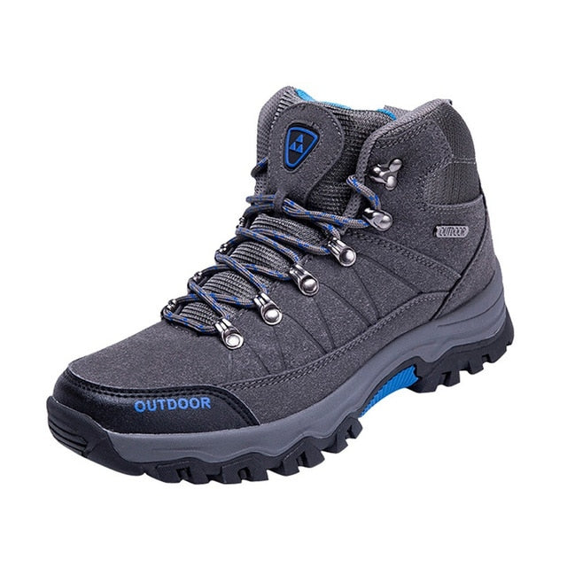 Men Outdoor Cotton Fabric Lace-up Hiking Shoes