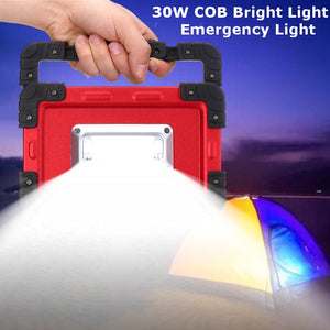 30 W USB 32 LED Spotlight Portable Rechargeable LED Flood Light Camping Outdoor Light