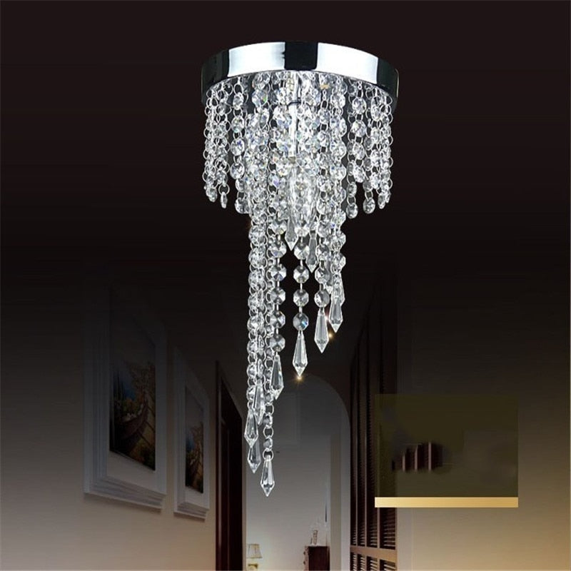 Modern Chrome/Golden lustre LED Crystal chandelier lighting Fixture Pendant Ceiling Lamp
