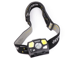 5000 Lumen LED Headlamp Motion Sensor Ultra Bright Hard Hat Head Lamp