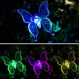 Color-Changing LED Garden Solar Light Outdoor Waterproof Dragonfly/Butterfly/Bird Solar Lamps