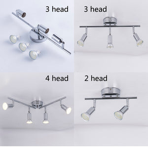 Adjustable 2/3/4 Heads LED Chandeliers Living dining Room showcase led ceiling light