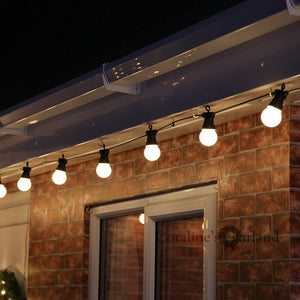 15M 20 LED Globe Bulb String Lights IP65 Waterproof Connectable for Outdoor Valentine Christmas Holiday