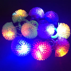 Flashing Glow Rings Light Up Soft Jelly Finger Rings Kid Gift Birthday Party Lights
