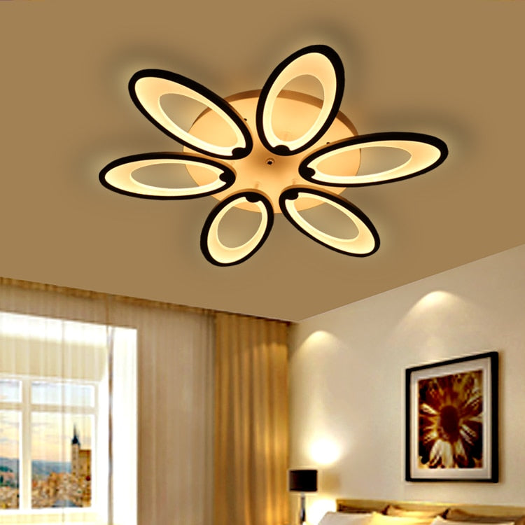 White Acrylic Modern led ceiling lights for living room Modern Lamp