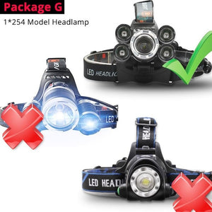 50000 LM Headlamp T6 LED Headlight Head Flashlight Torch Lantern Bicycle Light