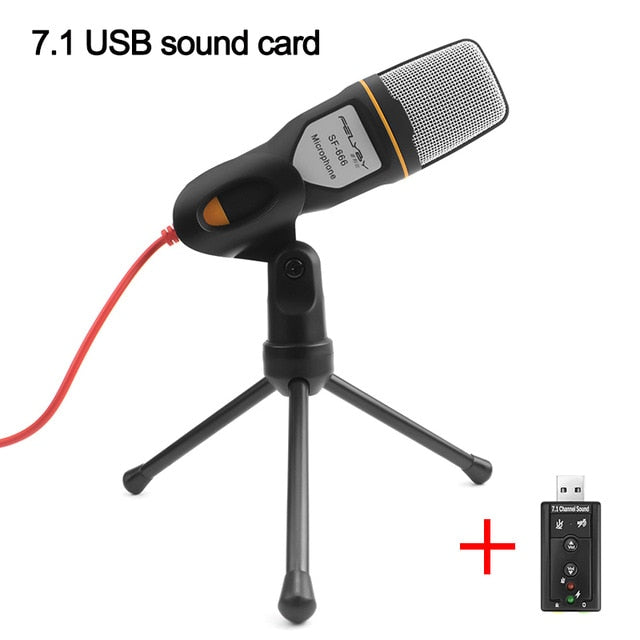Amateur Microphone Professional Sound Podcast Studio Microphone for Computer Laptop