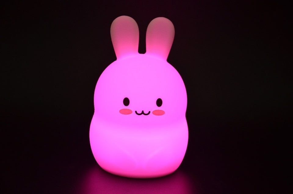 9 Colors Silicone Bunny Animal Lamp Bedroom Bedside Lamp for Baby Kids