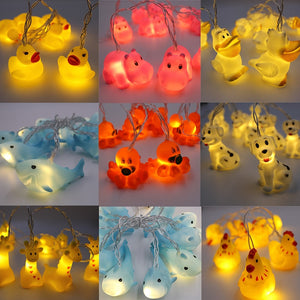 Led Night Light 1.5 M Animal Lamp String Kids Room Decoration Giraffe Shark Octopus