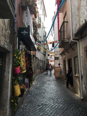 the streets of the alfama