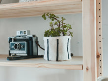 Mudcloth Planter - BLACK BARS