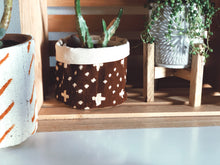 Brown Mud Cloth Planter Basket