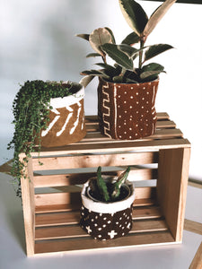 Mud Cloth Planter Basket 4,6 and 8 inch's