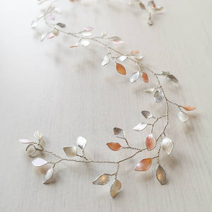 Enchanted Glass Hairvine In Silver