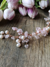 Tumbled Starpetal Hairvine in Rose Gold