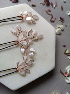 Enchanted Glass Hairpins Set of 3