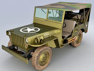 Willys MB / Ford GPW Military Jeep Stamps