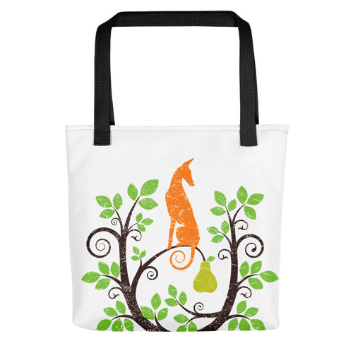 Podenco in a Pear Tree Tote bag