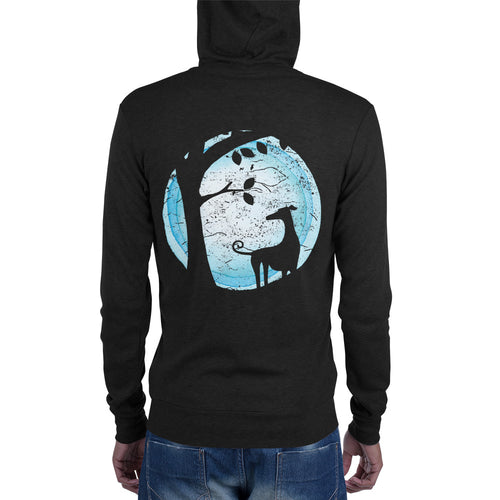 By the light of the moon lightweight Unisex zip hoodie