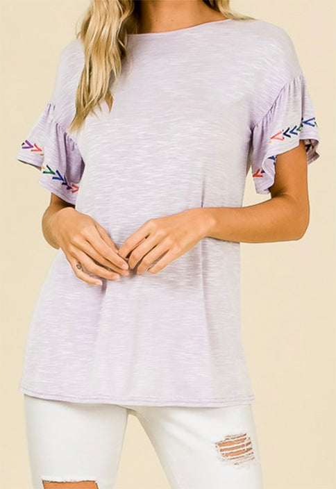 Alyssa Top in Lavender