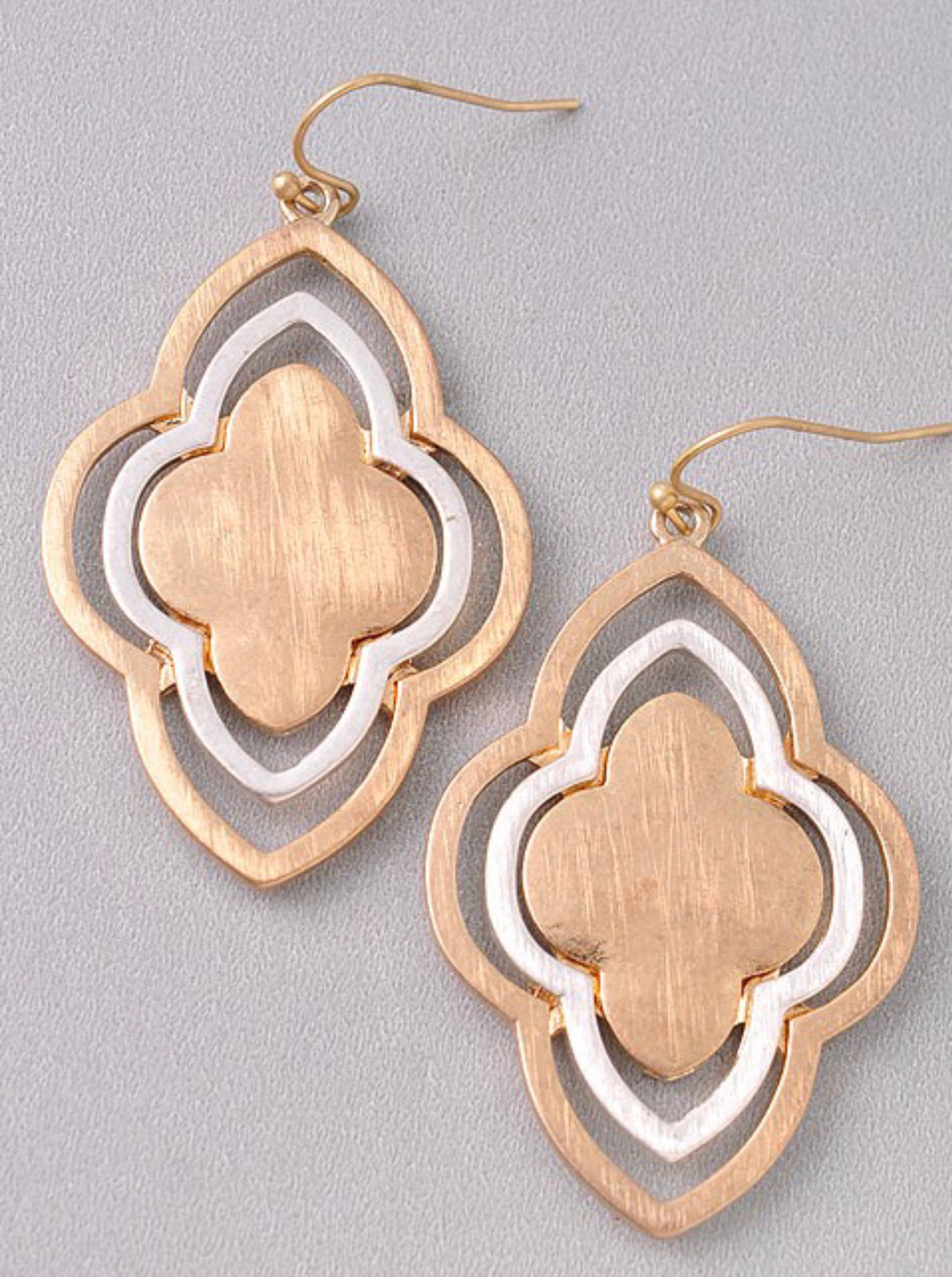 Gold & Silver Layered Earrings