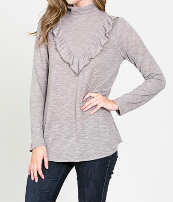Hailey Top in Taupe